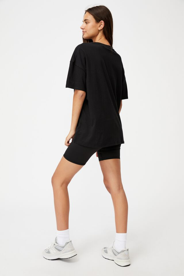 Super Relaxed Graphic Tee, BLACK/NO PLANS