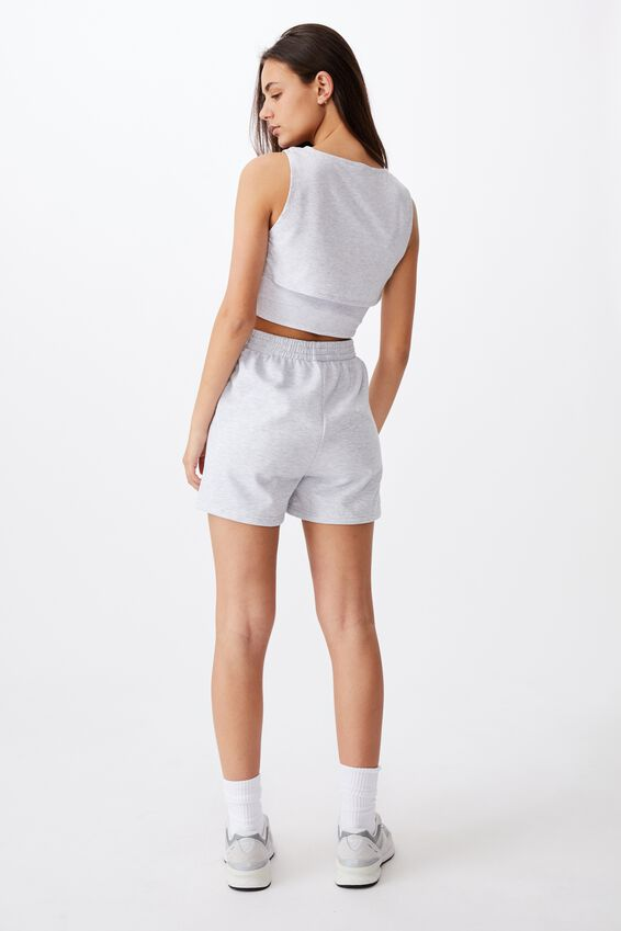 Layered Cut Out Tank, SILVER MARLE