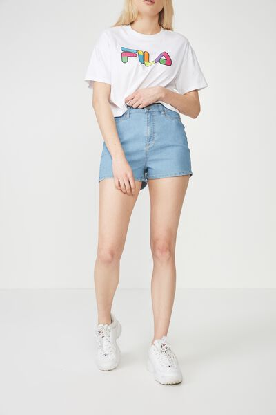 Denim Stretch Short, BEACH BLUE