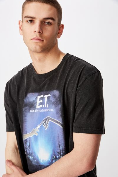 Regular License T Shirt, WASHED BLACK/ET