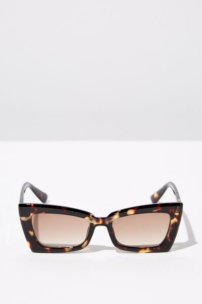 Angular Rec Sunglasses, TORT_BRN