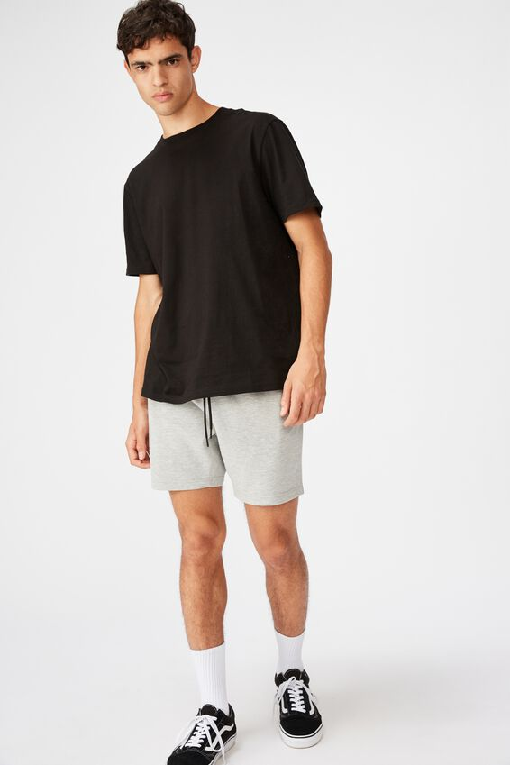 Tech Track Short, LIGHT GREY MARLE
