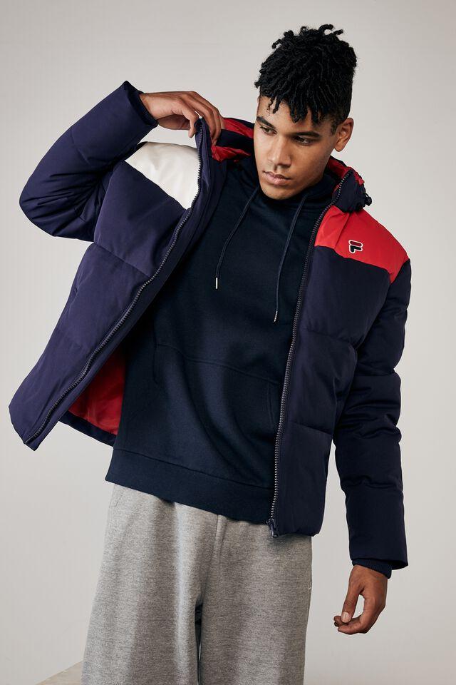 Fila Lcn Puffer Jacket, NAVY/FILA
