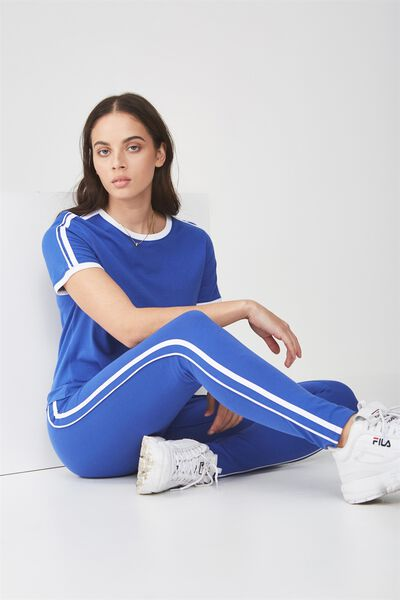 True Ringer Tee 3, DAZZLING BLUE WITH WHITE BIND