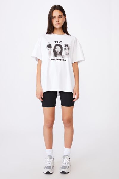 Lcn Super Relaxed Graphic Tee, WHITE/LCN MT TLC CRAZY SEXY COOL