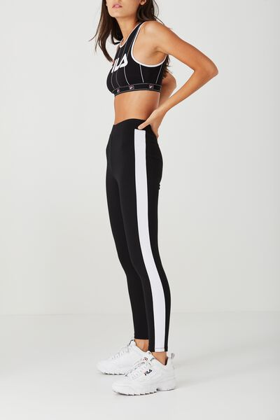 Stripe Detail Ponte Pant, BLACK/WHITE