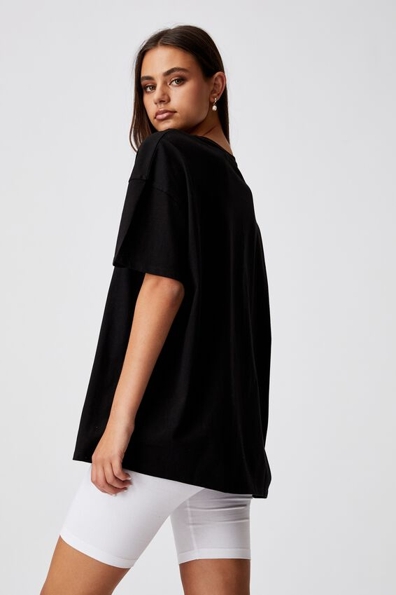 Super Relaxed Graphic Tee, BLACK/NEWPORT