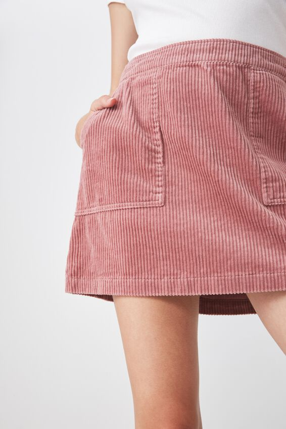 Cord Skirt, DUSTY PINK