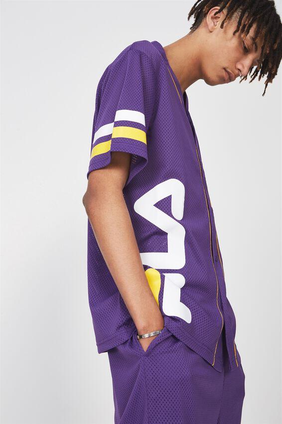 Fila Lcn Baseball Mesh T Shirt, PURPLE