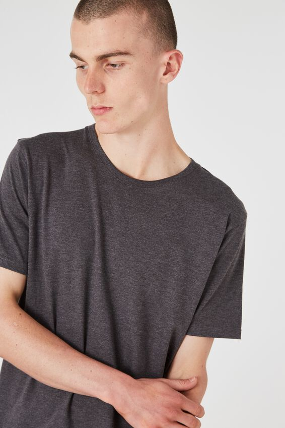 Slim T Shirt., CHARCOAL MARLE