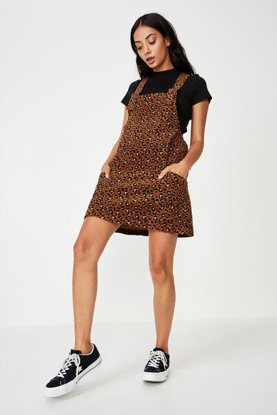Cord Overall Dress, ANIMAL