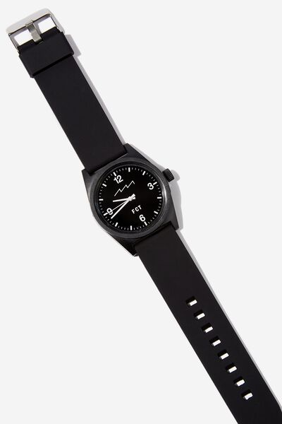 Silicone Watch, BLACK