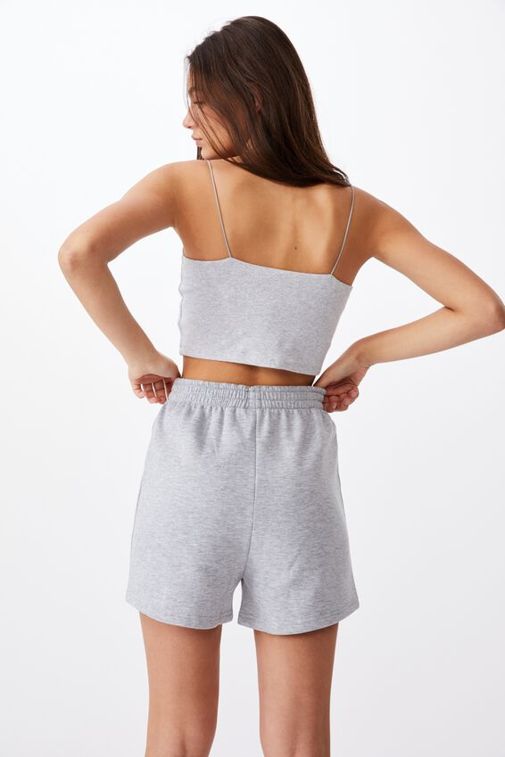Hype Fleece Short, GREY MARLE