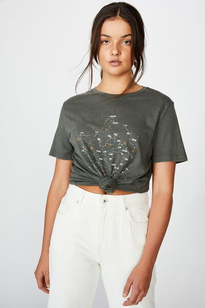 Relaxed Graphic T Shirt, WASHED ASPHALT/CONSTELLATIONS