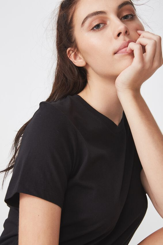 Basic T Shirt Plain, BLACK