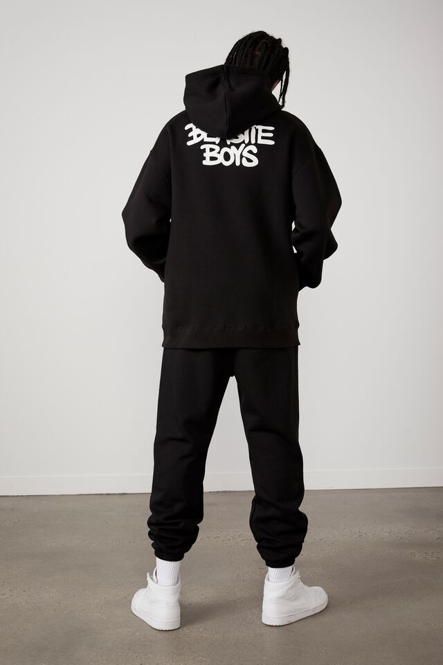 Oversized Music Merch Hoodie, LCN BRA BLACK/BEASTIE BOYS