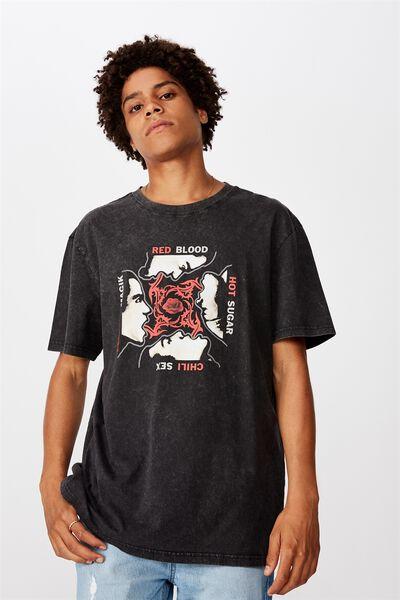 Regular License T Shirt, WASHED BLACK/RHCP