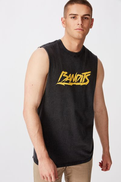 Graphic Muscle Tank, WASHED BLACK/BANDITS MUSCLE