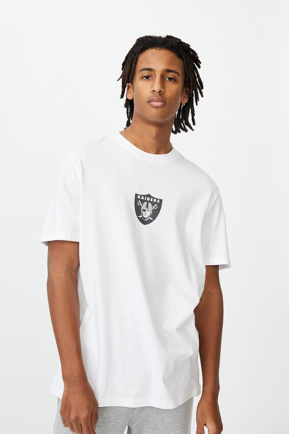 Regular License T Shirt, WHITE/RAIDERS FRONT