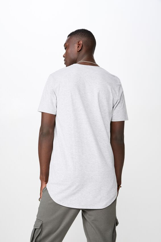 Curved Graphic T Shirt, LIGHT GREY MARLE/BEFORE THE STORM