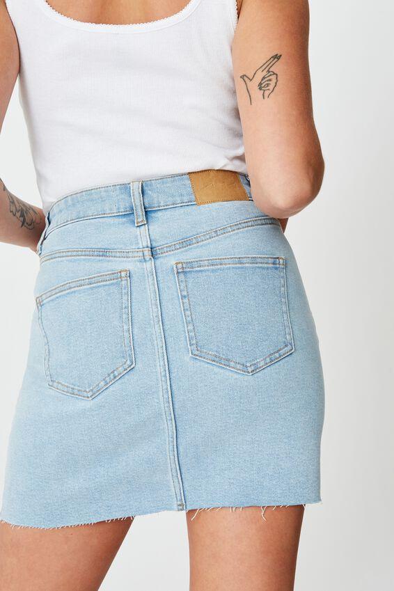 Stretch Denim Skirt, BRIGHT BLUE