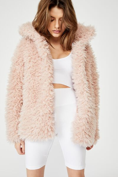 Shaggy Jacket, DUSTY PINK