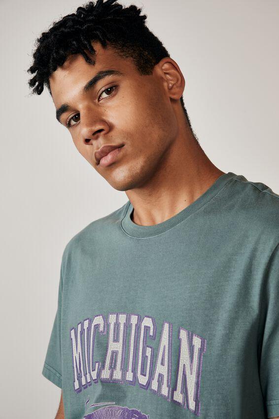 Regular Graphic T Shirt, WASHED PINE TEAL/PANTHERS