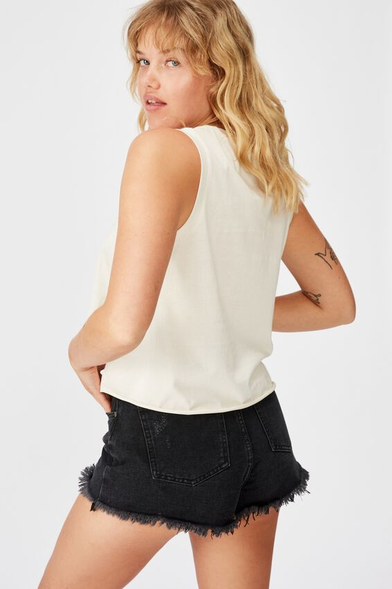 Graphic Tank, WASHED IVORY/TAMED