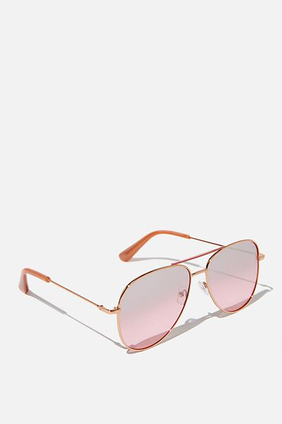 Girls Aviator Sunglasses, MISTY ROSE