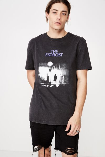 Regular License T Shirt, WASHED BLACK/THE EXORCIST