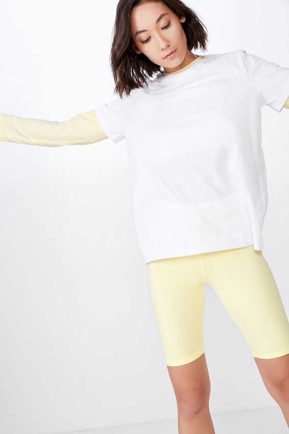 Basic Bike Short, PASTEL YELLOW