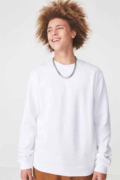 Crew Fleece, OPTIC WHITE