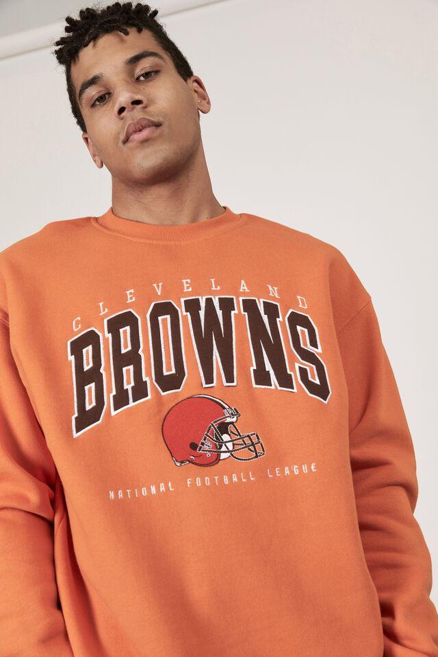 Oversized Nfl Crew, LCN NFL RUSSET ORANGE/BROWNS