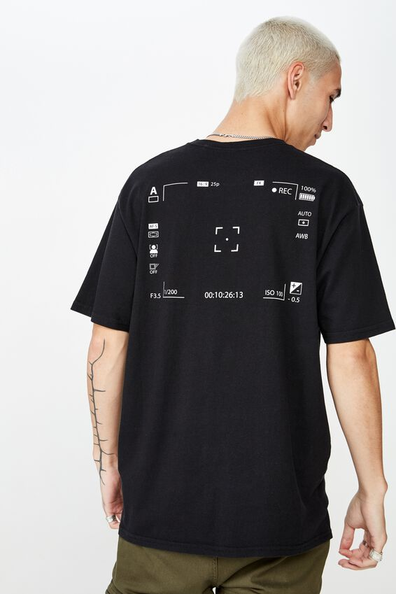 Graphic Washed T Shirt, WASHED BLACK/LCD