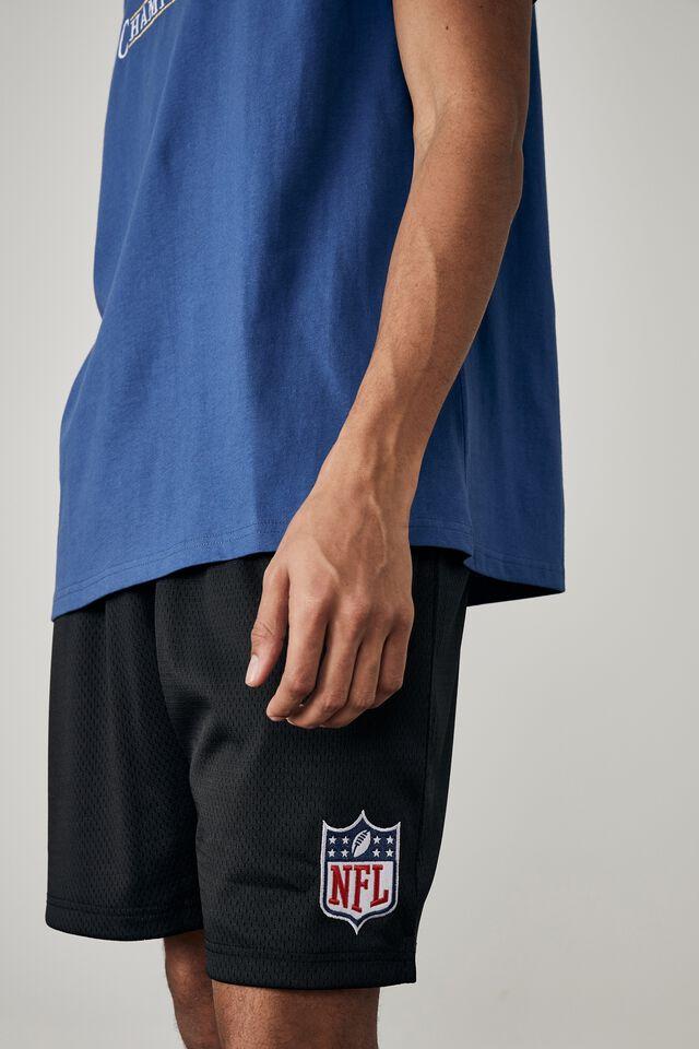 License Basketball Short, LCN NFL BLACK/NFL LOGO