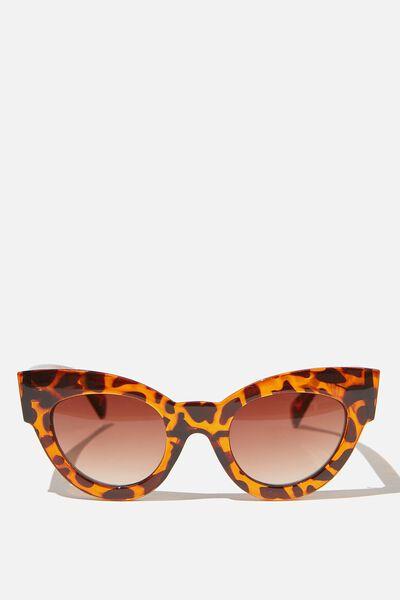 Kim Cateye Sunglasses, TORT