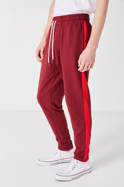 Grad Stripe Trackie, MERLOT/FIRE ENGINE