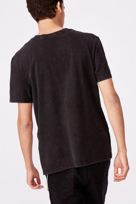 Regular License T Shirt, WASHED BLACK/PINK FLOYD