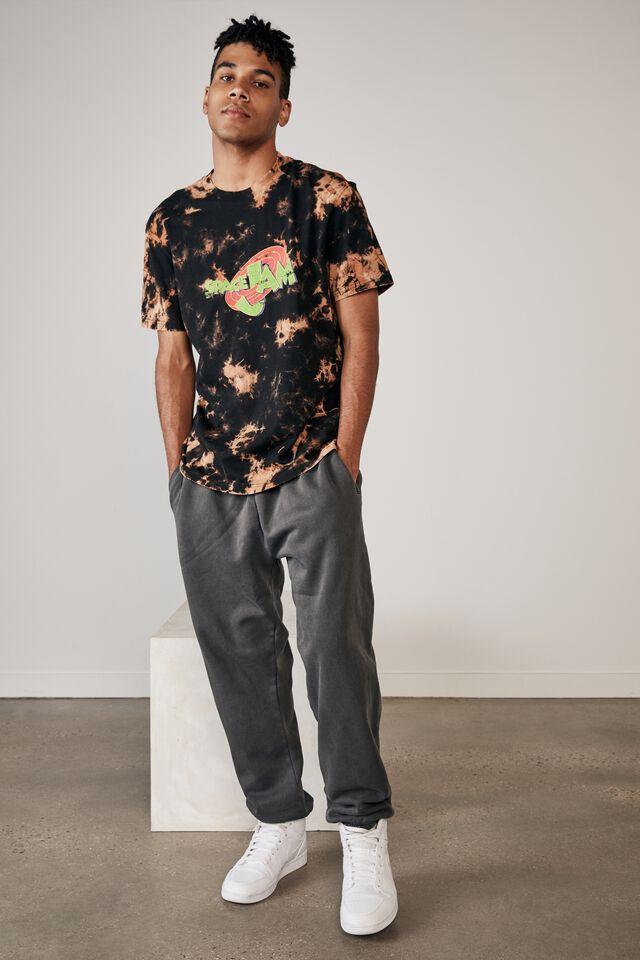 Regular Tv Movie T Shirt, LCN WB BLEACH TIE DYE/SPACE JAM