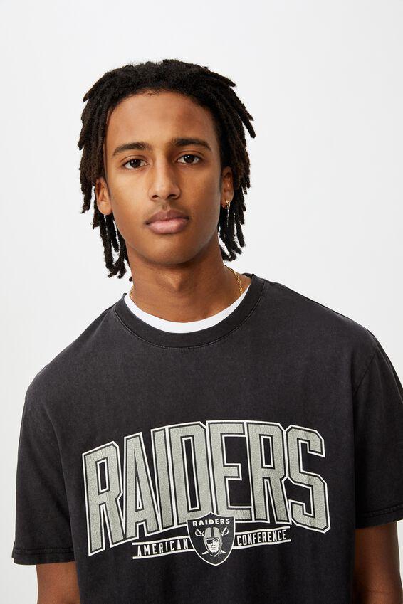 Regular License T Shirt, LCN NFL WASHED BLACK/OAKLAND RAIDERS
