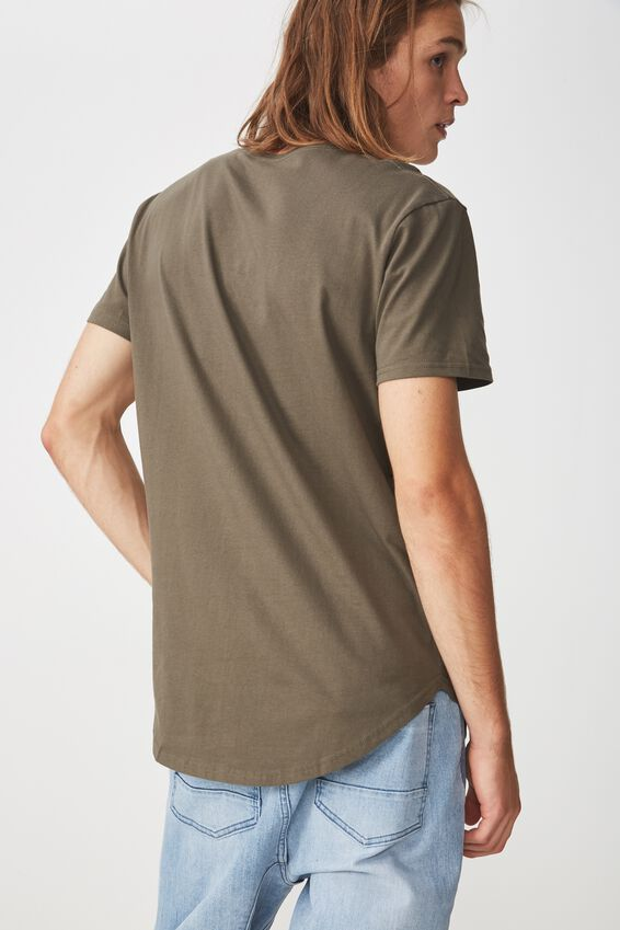 Curved T Shirt, CLOVER