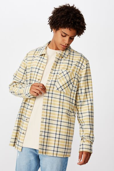 Flanno Shirt, MUSTARD MIDNIGHT