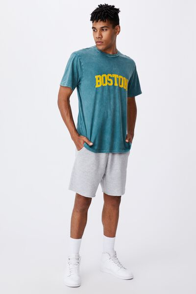 Regular Graphic T Shirt, WASHED PINE TEAL/BOSTON
