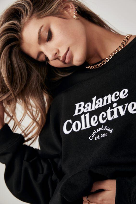 Oversized Graphic Crew, BLACK/BALANCE COLLECTIVE