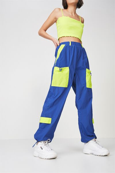 Parachute Trackpant, SURF THE WEB_LIMELIGHT