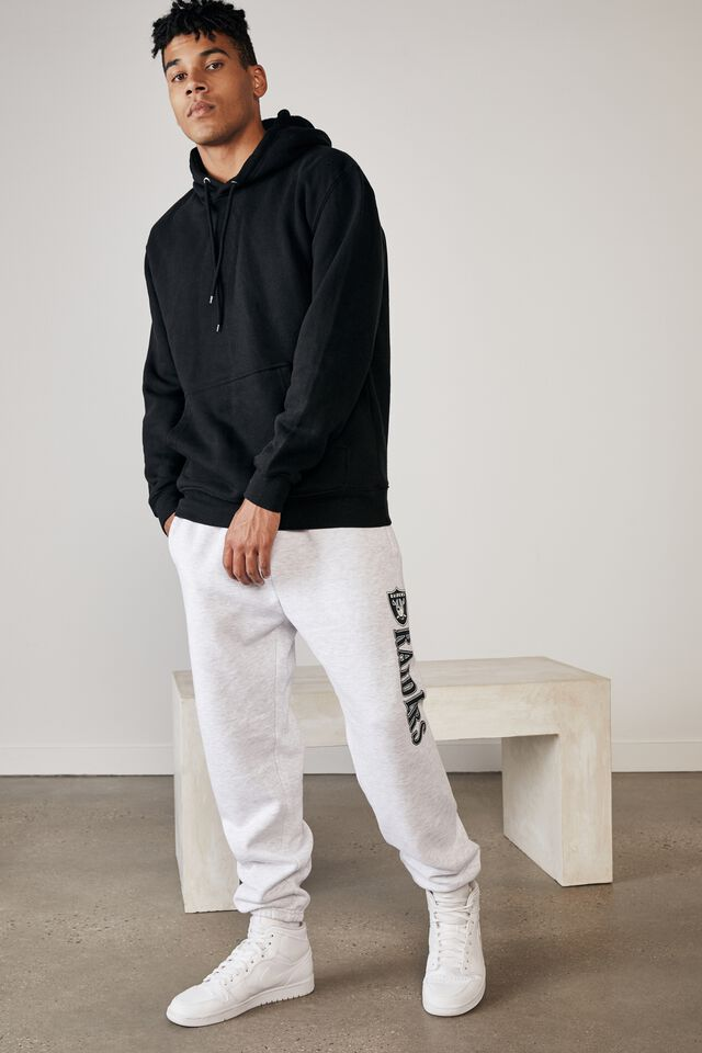 Relaxed Nfl Trackpant, LCN NFL SILVER MARLE/RAIDERS
