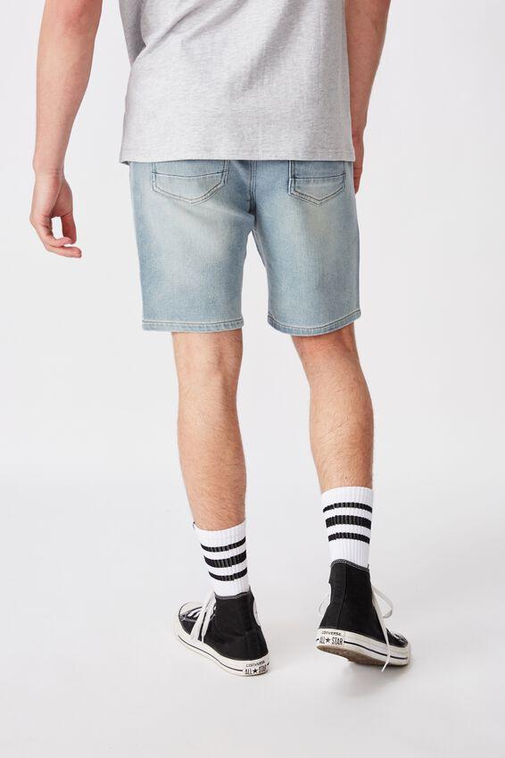 Knit Denim Short, BLUE