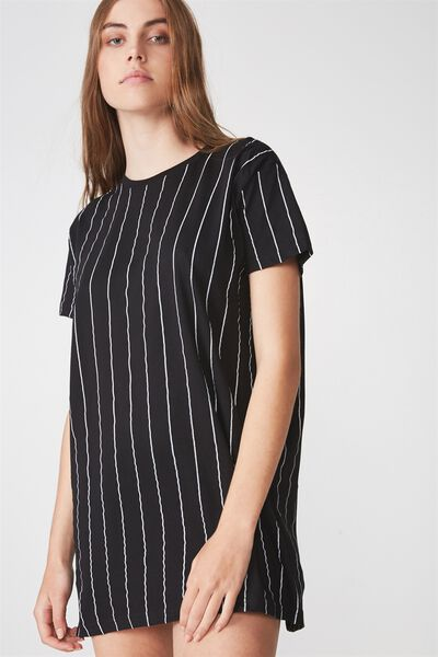 Tshirt Dress, PINSTRIPE_LIFE