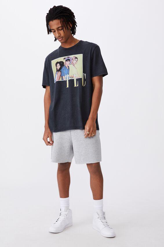Regular License T Shirt, LCN MT WASHED BLACK/TLC