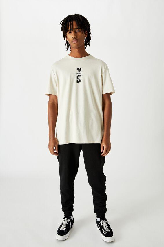 Fila Lcn Regular Graphic T Shirt., IVORY/BIELLA ITALIA